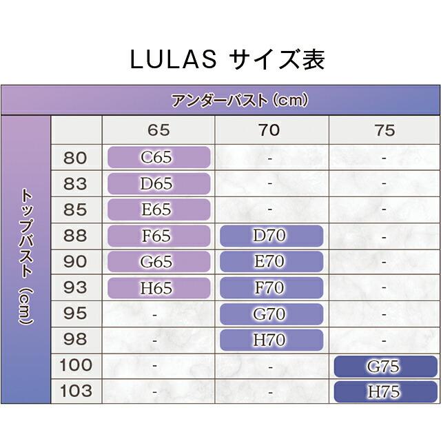 Belletia PARIS ベルティアパリ LULAS Bra ルーラス ブラ サイズ表