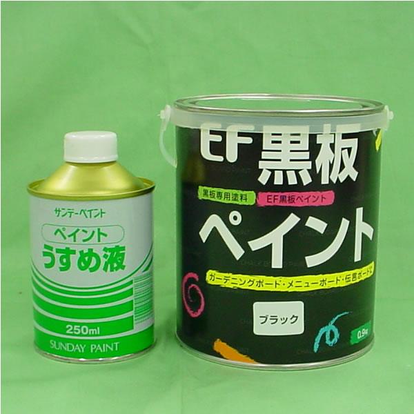 EF黒板ペイント0.9kg+ペイントうすめ液250mlセット