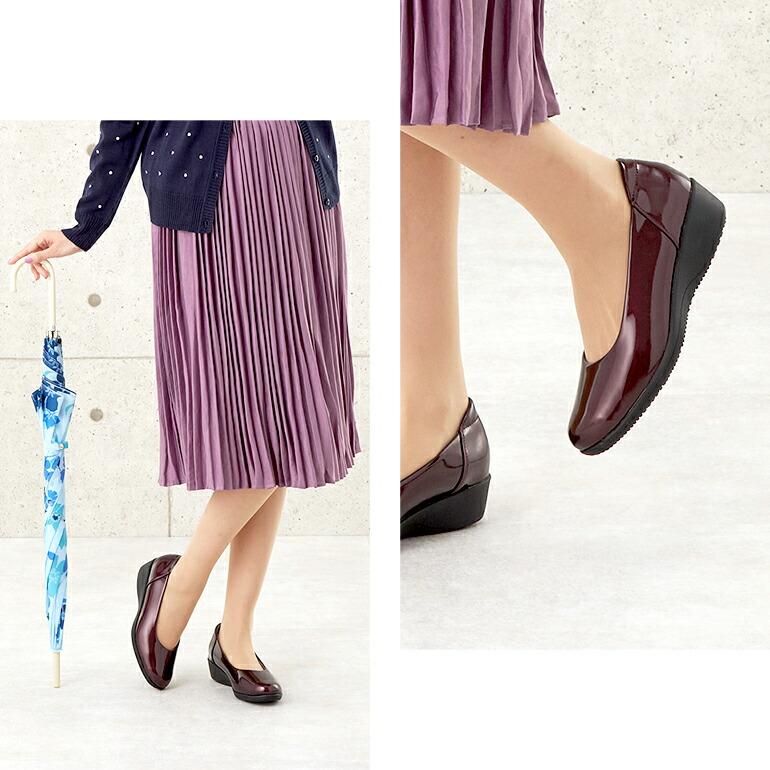 普段のファッションに合わせやすいシンプルなデザインのパンプス
