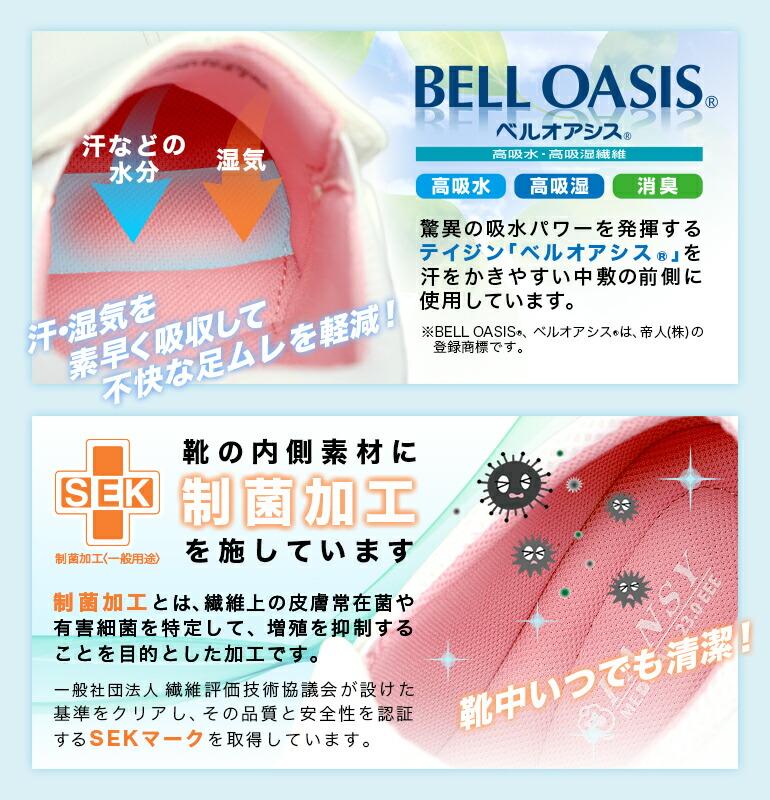 高吸水&高吸湿素材ベルオアシス・菌の増殖を抑制する制菌加工