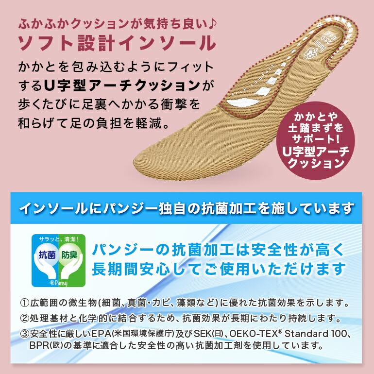 【ポイント1】U字型アーチクッションインソール
