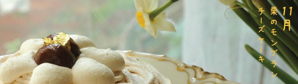 11月限定チーズケーキ栗のモンブラン