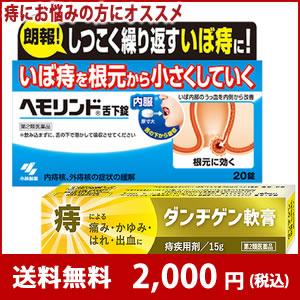 小林製薬 ヘモリンド20錠 + ダンヂゲン軟膏15g