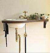 水栓レトロ手洗鉢セット
