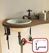 ブロンズレトロ手洗器セット