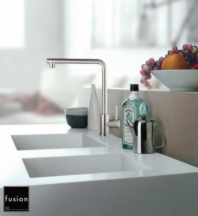 【fusion】SSK191 / ステンレス・シングルレバーキッチン混合栓