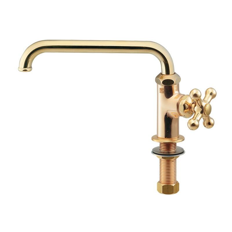 カラー立形自在水栓(レトロ)