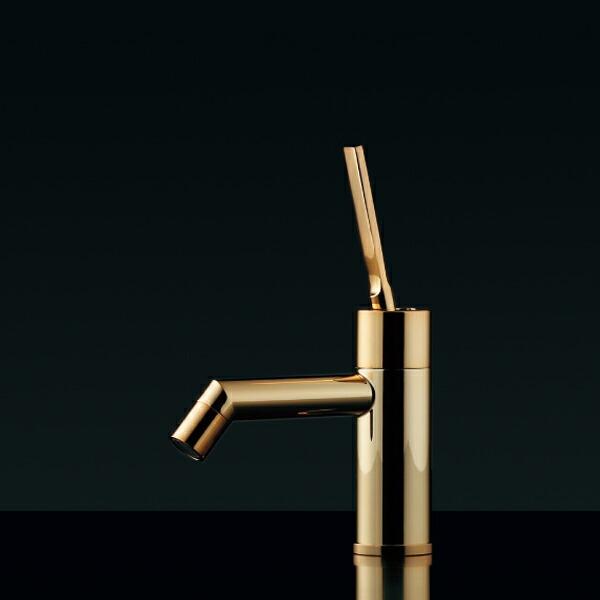 シングルレバー立水栓(ゴールド)