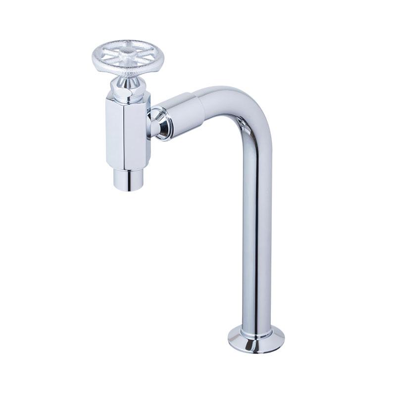 ラダーハンドル式クランク型単水栓(シルバー)