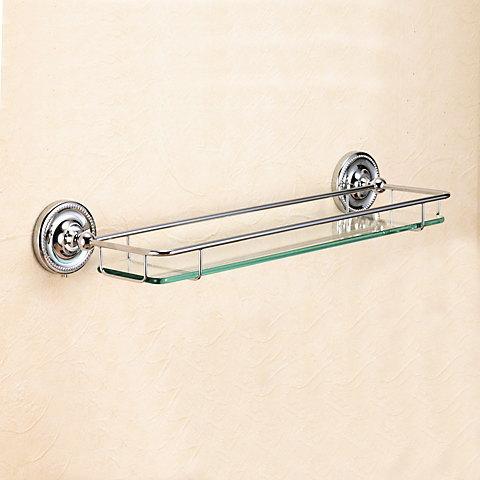 洗面所・トイレ・バス用品真鍮ガラス棚・ガラスシェルフ