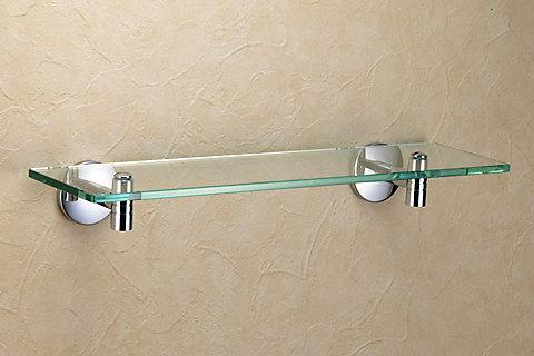 洗面所・トイレ・バス用品真鍮ガラスシェルフ