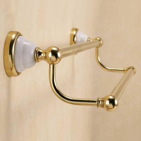 洗面所・トイレ・バス用品真鍮ダブルタオル掛け