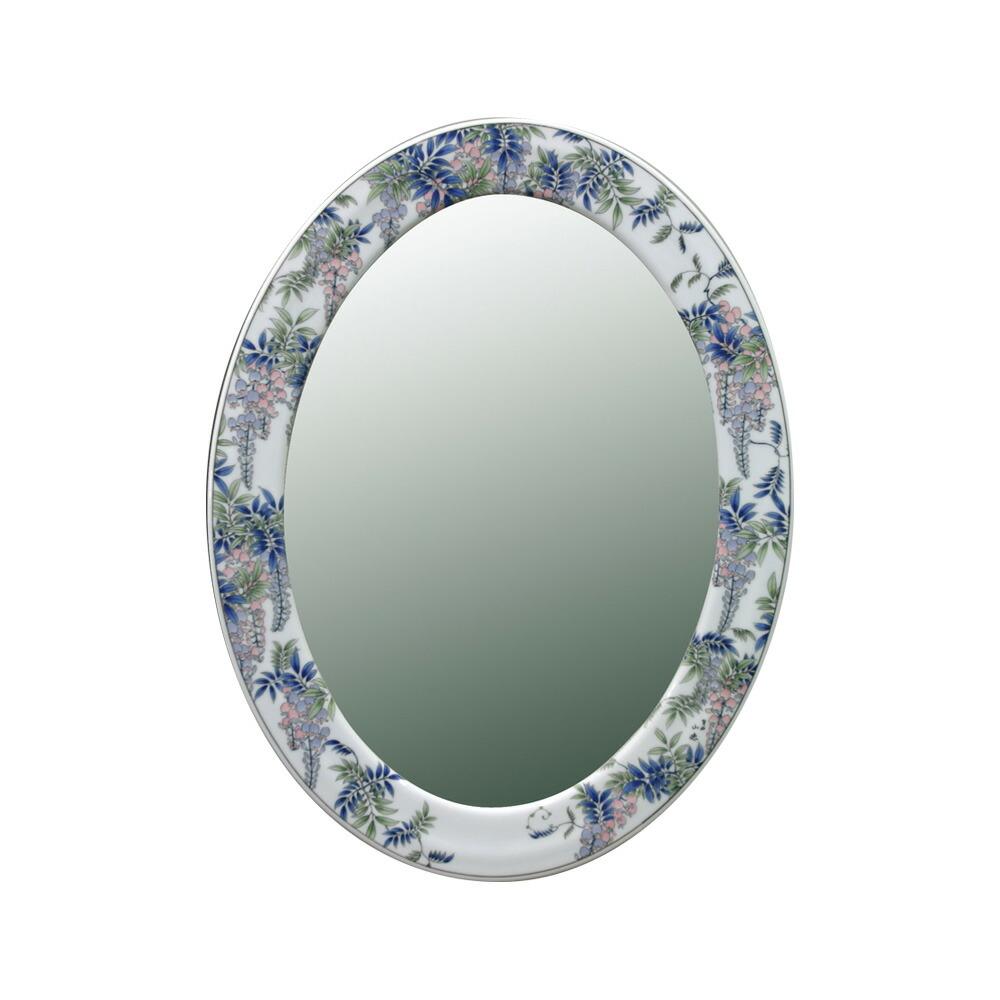 有田焼 染付藤絵 磁器 陶磁器 鏡
