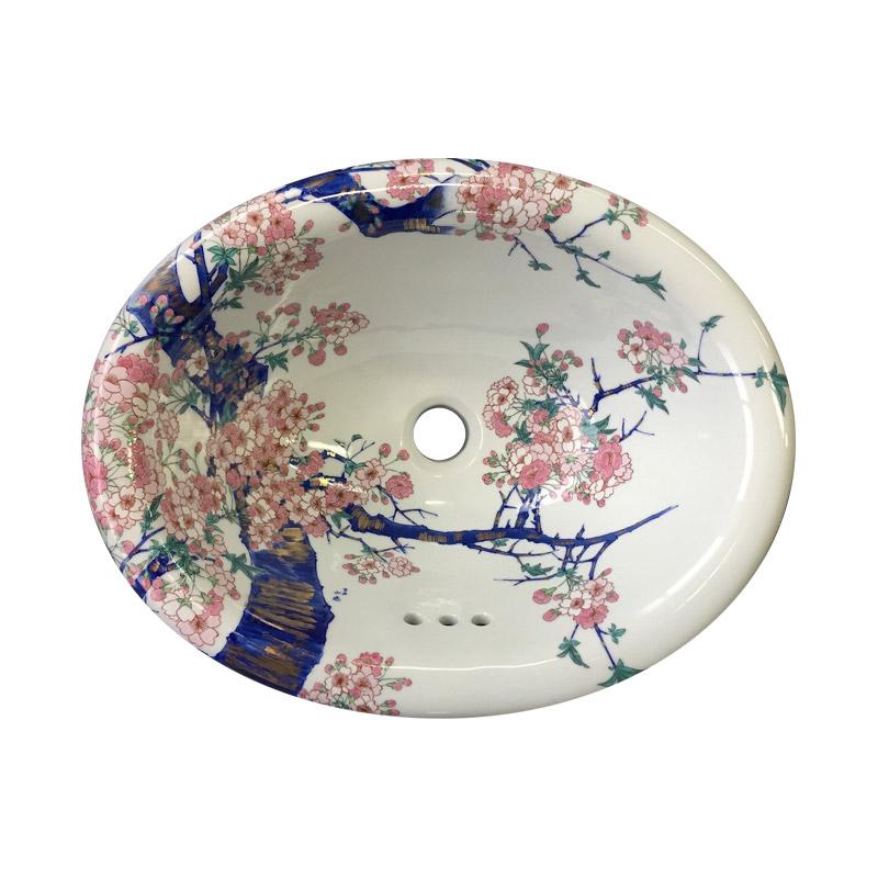 有田焼 染錦金彩桜絵 洗面器
