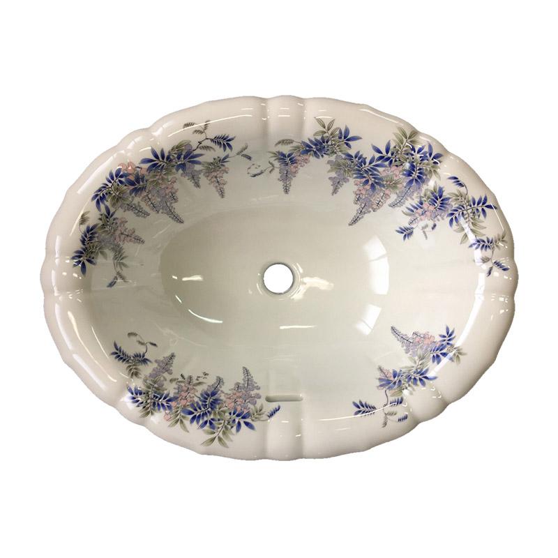有田焼手洗い鉢ボウル染付藤絵陶磁器