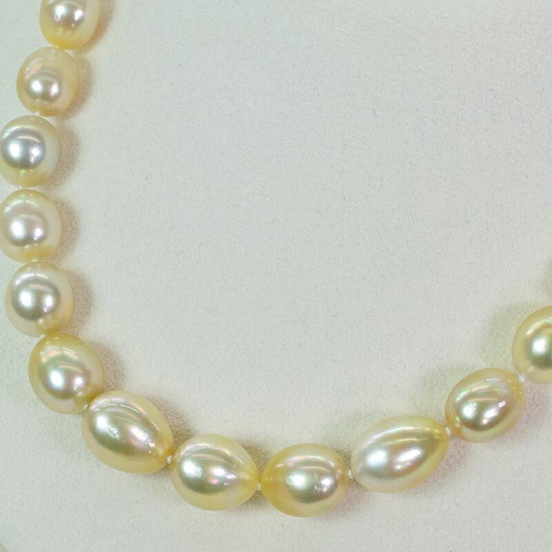 白蝶真珠 ゴールド ネックレス
