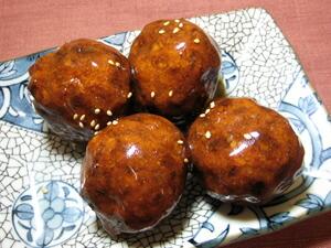 写真:肉団子の甘酢あんかけ
