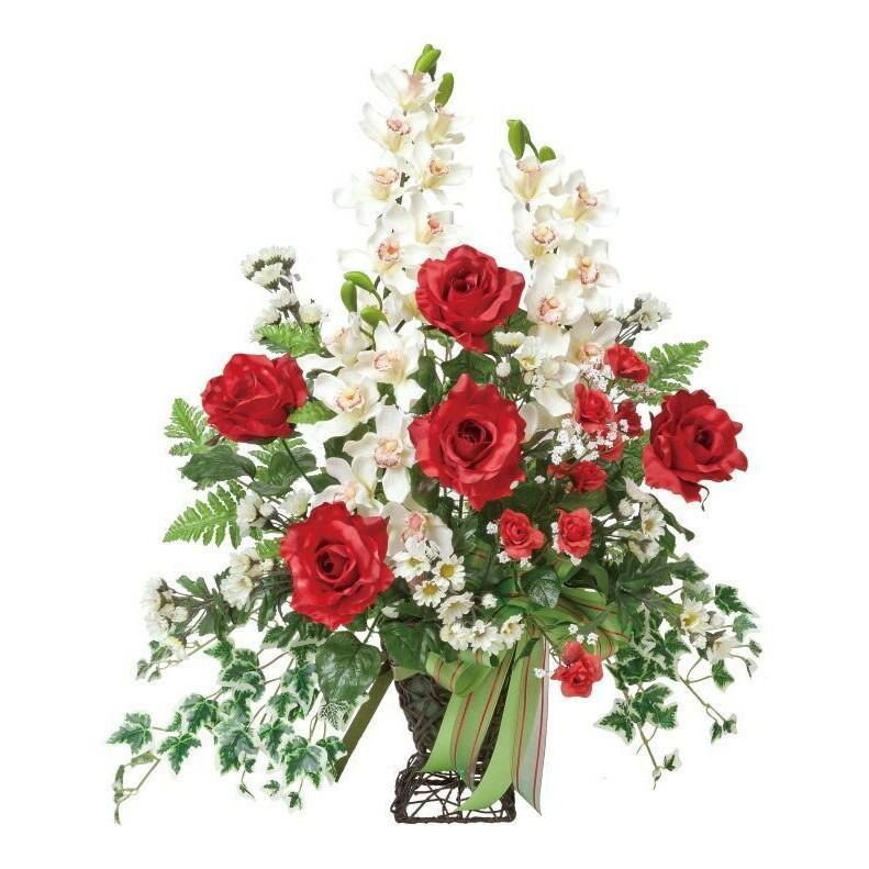 光の楽園ローズカップ【アートフラワー 造花 】
