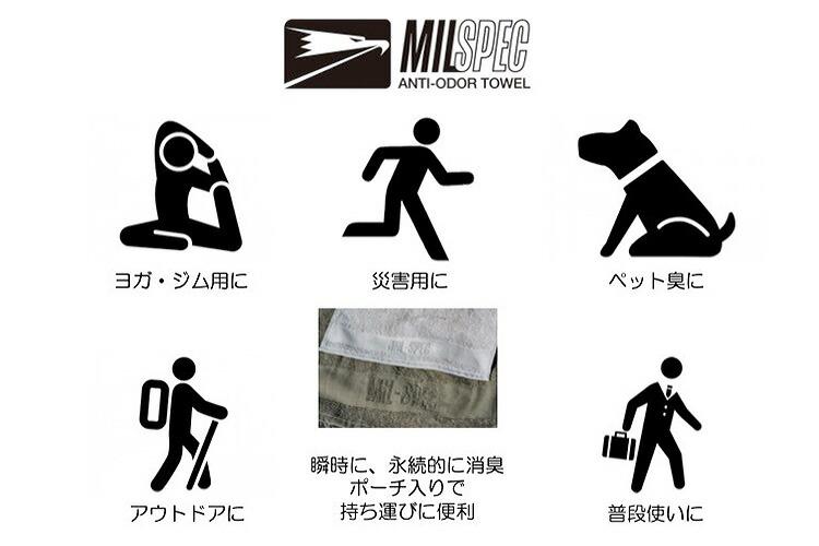MILSPEC TOWEL Lサイズ 60×100cm ミルスペック タオル (UNP) 詳細2