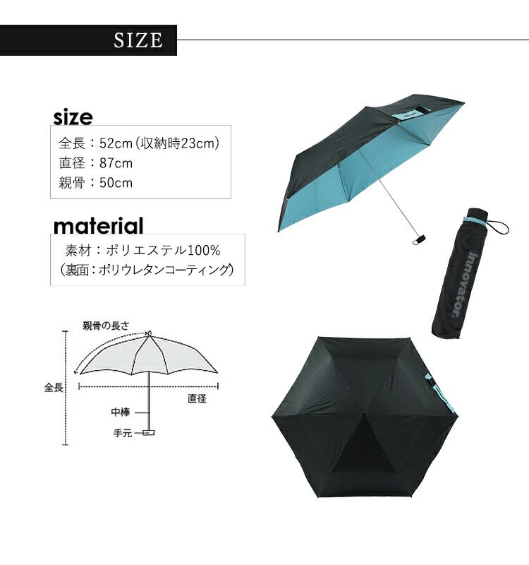 innovator umbrella mini サイズ