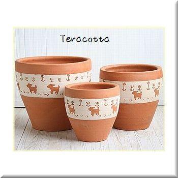 テラコッタ(素焼)鉢