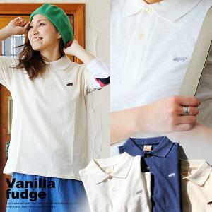 半袖 ポロシャツ スラブ調 鹿の子 素材 ブタ ワンポイント 刺繍 無地 ボックス シルエット レディース 女性用 トップス カジュアル 重ね着 着回し 春 夏 涼しい