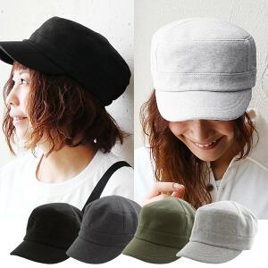 ワーク キャップ 後ろゴムデザイン 中肉厚 スウェット素材(帽子 シンプル 無地)