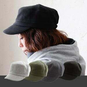 キャップ ワークキャップ 帽子 後ろゴム 中肉厚 スウェット素材 無地 メンズ レディース