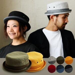 ポークパイハット 裏地付き ハリ感 スウェット 配色切り替え 帽子 メンズ レディース ハット ブラック 黒 グレー ネイビー カーキ