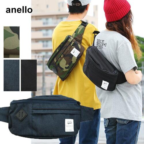 (アネロ) anello ボディバッグ ショルダーバッグ ウエストバッグ 5L 一泊旅行