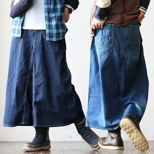(リーフ) REEF ガウチョ パンツ ワイドパンツ マキシ丈 スカート風 変形デザイン デニム 40代 50代 REEF