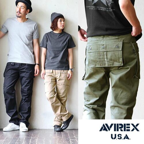 (アヴィレックス) AVIREX カーゴパンツ チノクロス エアロカーゴパンツ アビレックス ミリタリーパンツ