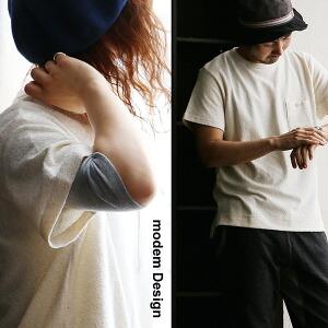 半袖 パイル Tシャツ カットソー ポケット リラックス タオル 春物 レディース メンズ ティーシャツ トップスゆったり