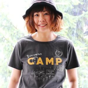 半袖 Tシャツ 【CAMP】メッセージ プリント イラスト デザイン 綿100% カジュアル レディース 女性 女性用 夏 夏物 アウトドア キャンプ フェス