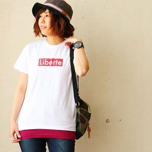 半袖 Tシャツ シンプル ロゴ プリント デザイン 小さめ カジュアル レディース 女性 女性用 キャンプ アウトドア フェス 旅行