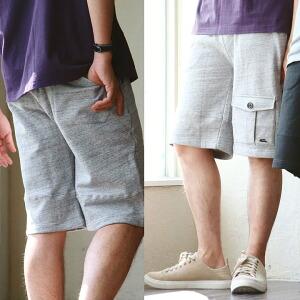 スウェット ショートパンツ ショーツ ブッシュポケット ハーフ レディース メンズ 夏 夏物 夏服