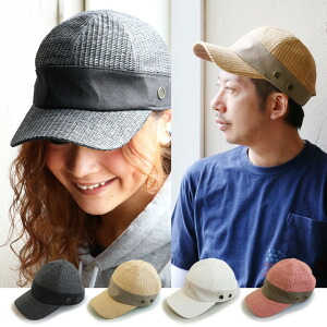 帽子 キャップ BUZZキャップ サイズ調整可能 ベルクロ ペーパー 異素材切り替え メンズ レディース 女性用 春夏