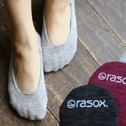 (ラソックス) rasox 靴下 ソックス フットカバー 日本製 『冷感繊維』ひんやり 涼しい 浅履き 脱げにくい 春 夏