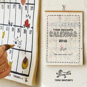 【2018年】 カレンダー アニマル ナッティー キャラクター カラー  デザイン 和紙 古風 素材 (1色 レディース paty カレンダー 動物 2018年 カラー)