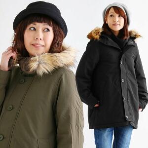 モッズコート 中綿 ジャケット ナイロン100% 防風 撥水 裏地付き レギュラー丈 ファー取り外し可能 ミリタリー レディース 女性用 アウター 冬 冬物 軽い 暖かい 40代 50代