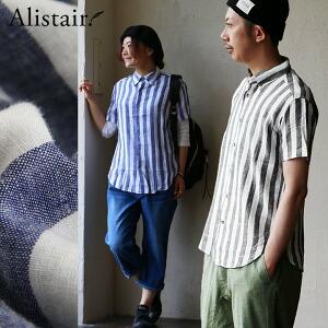 シャツ 半袖 レギュラーカラー ワイド ストライプ 麻 レーヨン メンズ レディース 女性用 トップス カジュアル シャツ 夏 重ね着 夏服 夏用