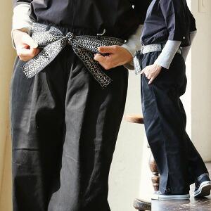 柄紐付き サイドスリット パンツ ワイドパンツ レトロ ストレッチ性 ウエストゴム レディース 女性用 秋 秋物 冬
