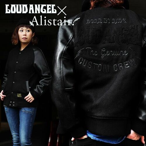 (アリステア×ラウドエンジェル) ALISTAIR×LOUD ANGEL スタジャン メルトン PU 相良刺繍  限定サイズ
