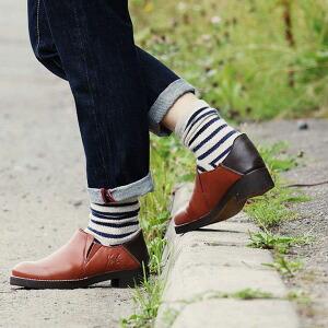 ショート ブーツ サイドゴア レザーブーツ レザー 天然クレープソール イタリアン アンティーク加工 レディース 女性用 23.5cm 24.0cm 24.5cm 靴 本革