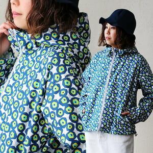 長袖 総柄 フラワープリント ダブルジップ フーディー パーカー 日本製 綿100% カラフル レディース カジュアル