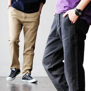 ニットデニム サイドライン 4ポケット パンツ ウエストゴム ストレッチ 伸縮 動きやすい アウトドア カジュアル メンズ レディース