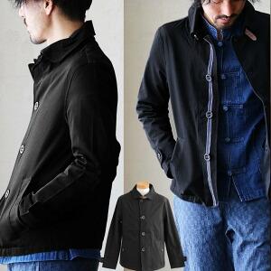 長袖 高密度ツイル ラウンド カラー ブルゾン ジャケット ネック ベルト 綿100% カジュアル メンズ レディース アウター 春アウター 春服