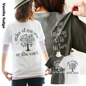 半袖 Tシャツ クルーネック ロゴプリント COLOR NATURE 綿100% ボックスシルエット ユースサイズ Tee レディース 女性用 春 春物