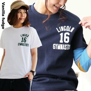 半袖 Tシャツ クルーネック ロゴプリント LINCOLN 綿100% ボックスシルエット ユースサイズ Tee レディース 女性用 春 春物