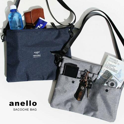 (アネロ) anello サコッシュ ショルダー バッグ 500ml ペットボトル ストラップ 取り外し 可能 ポーチ